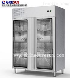 供应酒店厨房用不锈钢双门冷藏柜 立式玻璃门小型冷藏柜厂家直销