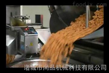SPBD-1000衡水麻花油炸锅 脆皮麻饼油炸锅自动除渣自动上料出料机价格