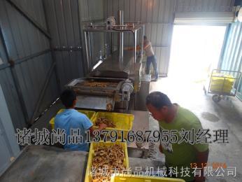 SPYZL-3000湘西QQ鱼仔毛毛鱼连续油炸生产线 全自动型油炸线生产量大