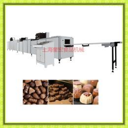 300型巧克力浇注生产线/巧克力生产设备/巧克力双头单?#26041;?#27880;机