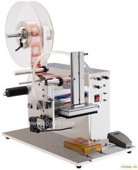 HCB-50北京半自动平面贴标机生产厂家瓶盖CD光盘贴标