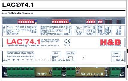 H&B LAC74.1 称重传感器信号变送器