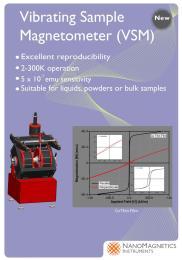 VSM–Vibrating Sample振动样品磁强计
