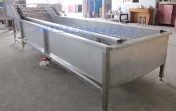 HYD-1000气泡果蔬清洗机 蔬菜高压冲浪式清洗设备