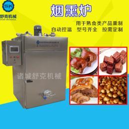 SYX-50台式风味香肠烟熏炉 鸡肉熏蒸炉设备