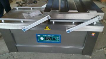 500/2s气调锁鲜卤味蟹钳真空包装机 双室真空包装设备