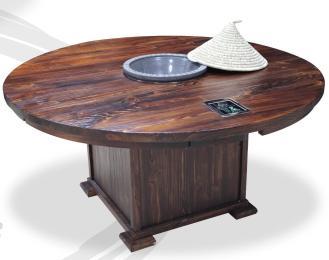 蒸汽火鍋桌格匠尚蒸鼎蒸汽火鍋配套桌子 海鮮火鍋桌