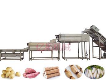YT—1500不锈钢土豆去皮清洗设备 毛辊清洗机