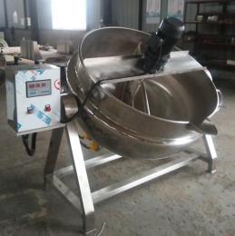 JY300L电加热蒸汽燃气倾斜式搅拌夹层锅蒸煮锅厨房多用途锅