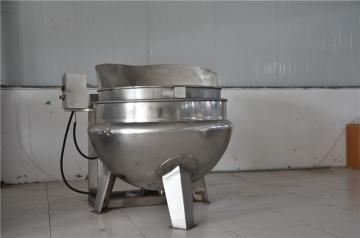 可倾式燃气夹层锅,全不锈钢锅