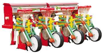 2BYSF-4悬浮式六连杆四行玉米施肥播种机