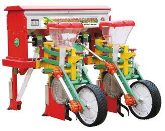 2BYSF-2六连杆两行悬浮式玉米施肥播种机