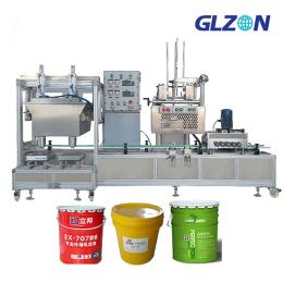 GZ-JS涂料化学品胶水灌装机膏体大桶自动灌装