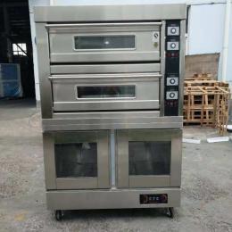 弘惜204DF二層四盤烤箱醒發箱組合爐 上烤下醒發