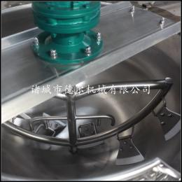 500L蒸汽 电加热不锈钢搅拌可倾夹层锅 蒸煮设备