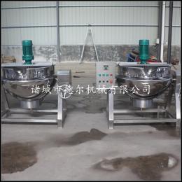 DER-200L水饺煎饺蘸酱搅拌锅厂家供应电加热不锈钢夹层锅