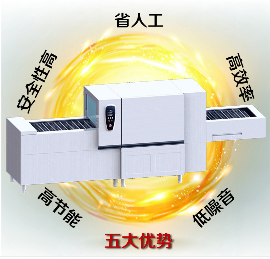 ygxw-006廠家直供酒店 飯店用不銹鋼長龍式洗碗機