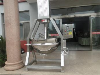 300升山东滨州厂家电加热搅拌夹层锅 搅拌设备