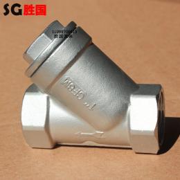 G11W-16P不锈钢Y型丝扣过滤器
