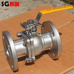 Q41F-16P不锈钢法兰球阀 两体式常温球阀