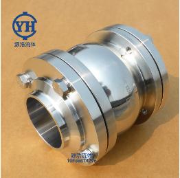 H61X-16P源浩球形三片式法兰焊接止回阀