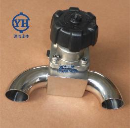 GWT-GMF0001卫生级不锈钢三通U型快装隔膜阀