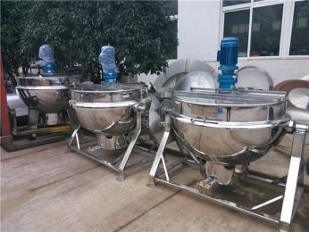 JM-600海带电加热带搅拌夹层锅特点