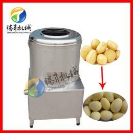 腾昇不锈钢滚筒土豆去皮机 莲藕芋头脱皮机