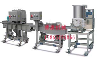 专业生产新型鱼饼虾饼成型机、汉堡肉饼生产线