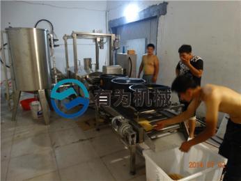 YWDZ-3000山東有為機械新一代模仿手工油煎餅果子薄脆油炸機成功上市