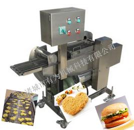 LJJ-300汉堡肉饼双面挂糊上浆机