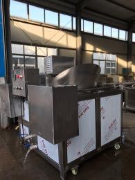 SZ1000天津面皮油炸机 豆腐串油炸设备油温可控