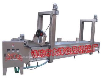 网带式油炸生产线 薯片油炸流水线