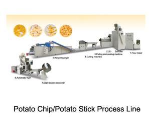 薯片、薯条膨化食品生产线