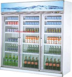 三门饮料展示柜/饮料陈列柜