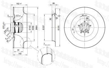 R4E400-AB23-05ebmpapst离心风机