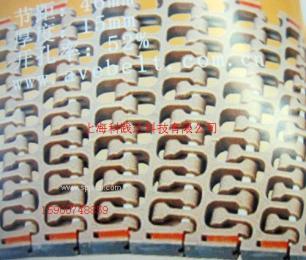 烘焙食品螺旋机输送带300转弯网带链