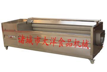 土豆清洗设备 土豆脱皮设备--毛刷清洗机