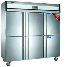 康庭厨房冷柜 节能冷柜 直冷双温冷柜 商用厨房冷柜 餐厅冷柜