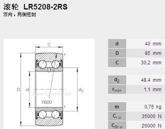 销售INA进口轴承LR5208-2RS