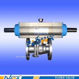 弗雷西气动分段式球阀气动球阀三位式气动分段式球阀