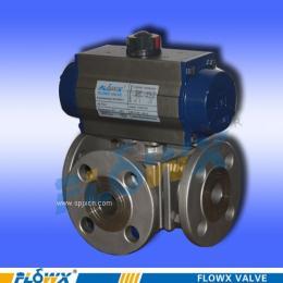 原装进口气动不锈钢三通球阀,进口气动碳钢三通球阀 适用于工业控制系统中