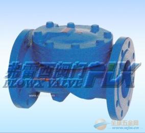 弗雷西优质橡胶瓣法兰止回阀 橡胶瓣铸铁止回阀