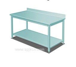 供应厨房设备白钢调理靠背工作台