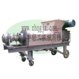 兴安县生姜榨汁机 生姜专用设备 生姜双螺旋压榨机选择鑫华轻工品质如铁一般