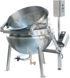 自动液压翻转蒸汽漂烫锅熬煮设备 自动漂烫锅 翻转漂烫锅