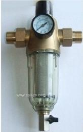 广东深圳超康中央前置过滤器 精密钢网前置净水器 家用 精确控压型 带压力表
