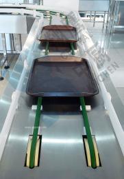 翔鹰不锈钢食品运输机链板式餐具回收机皮带式食品输送