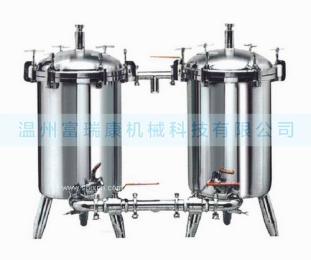 不銹鋼雙聯過濾器, 雙聯切換過濾器,雙濾桶過濾器,雙聯式管道過濾器