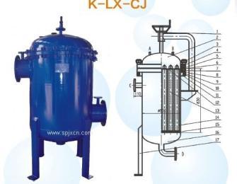 K-LX-CJ碳钢衬胶滤芯过滤器